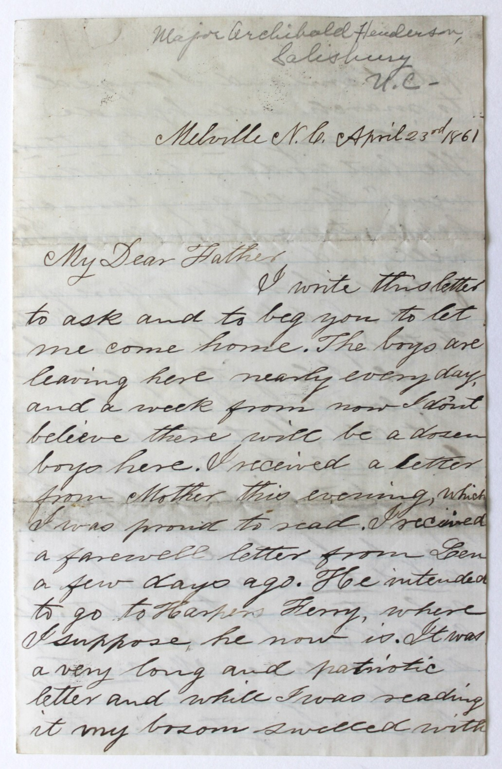23 april 1861 i write this letter to ask and to beg you to let page 1 aljukfo Image collections