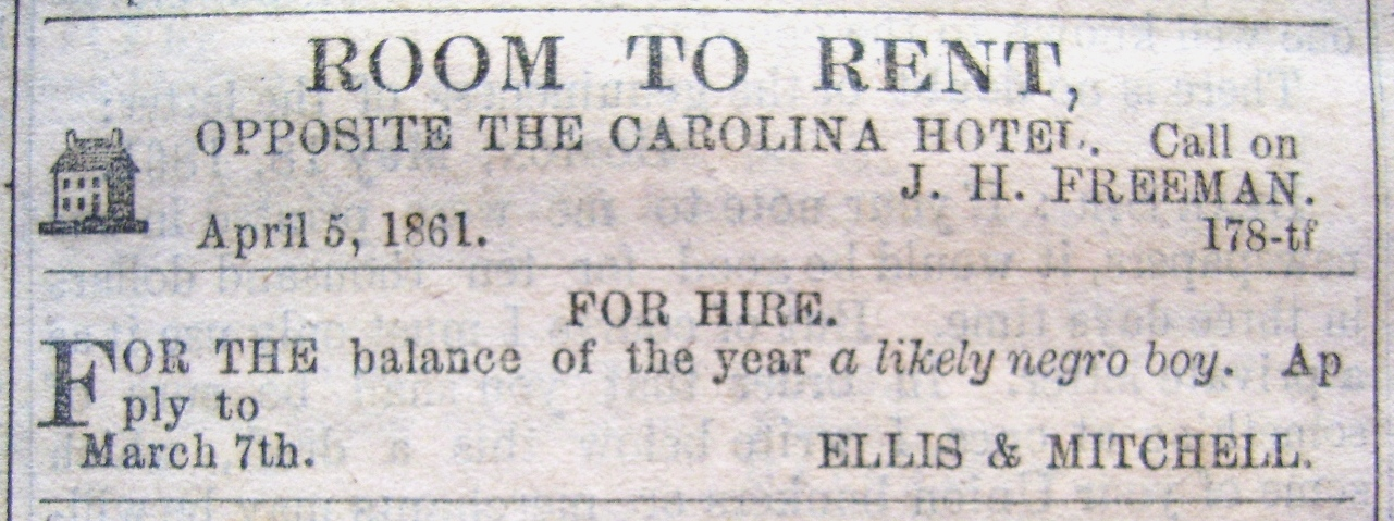 Cash N Carry >> 15 June 1861: Selected advertisements from the Wilmington ...