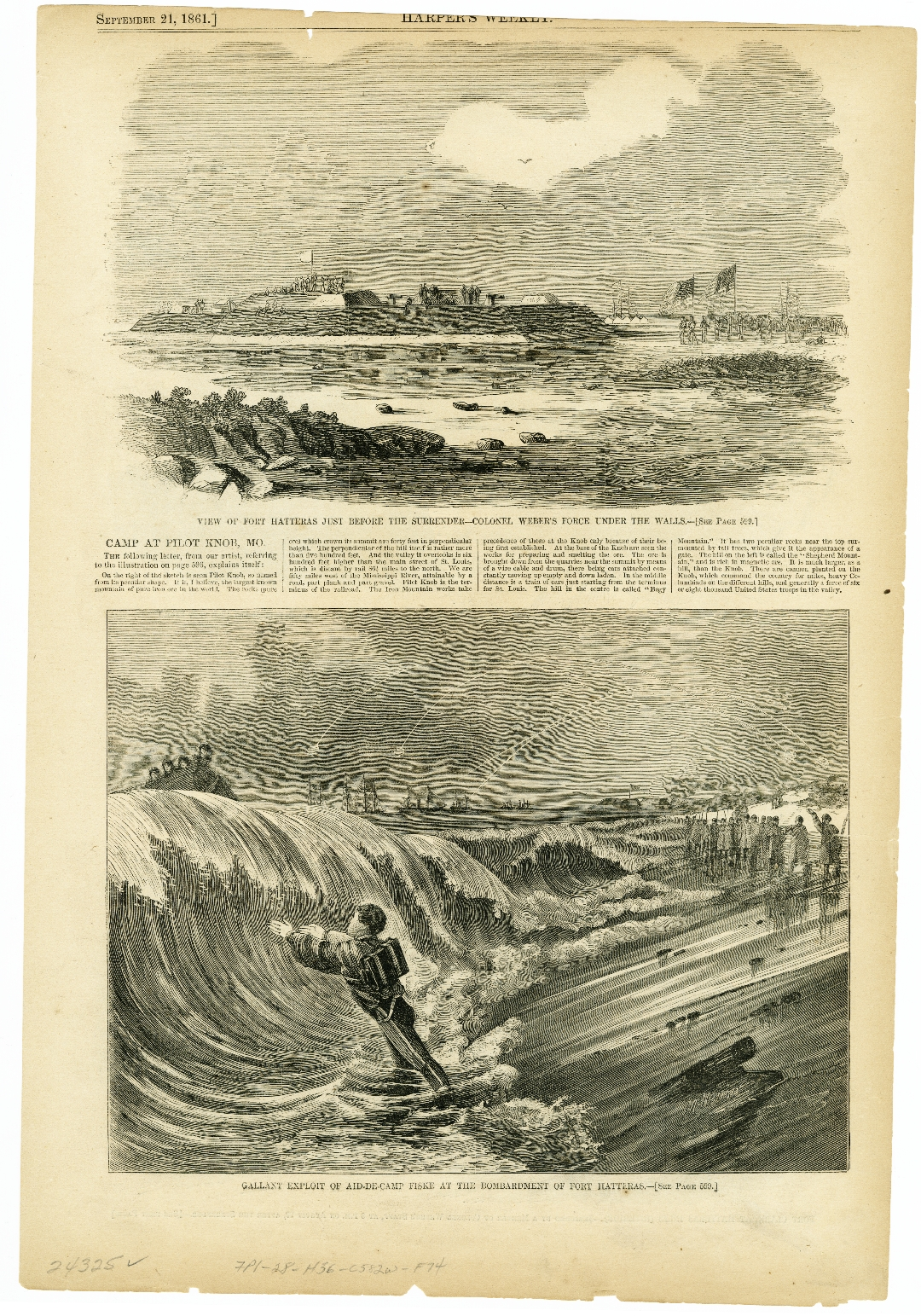 21 September 1861: Harper's Weekly reports on Forts Hatteras and
