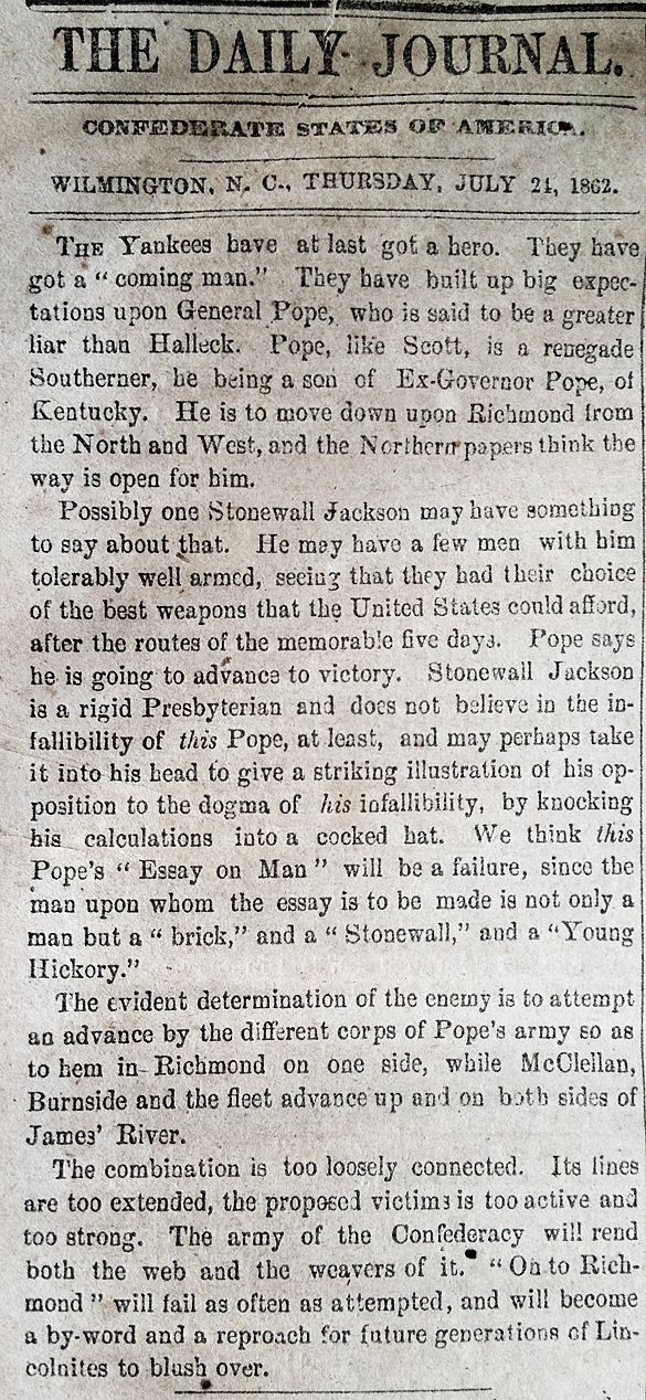 The Daily Standard, 24 July 1862, page 2