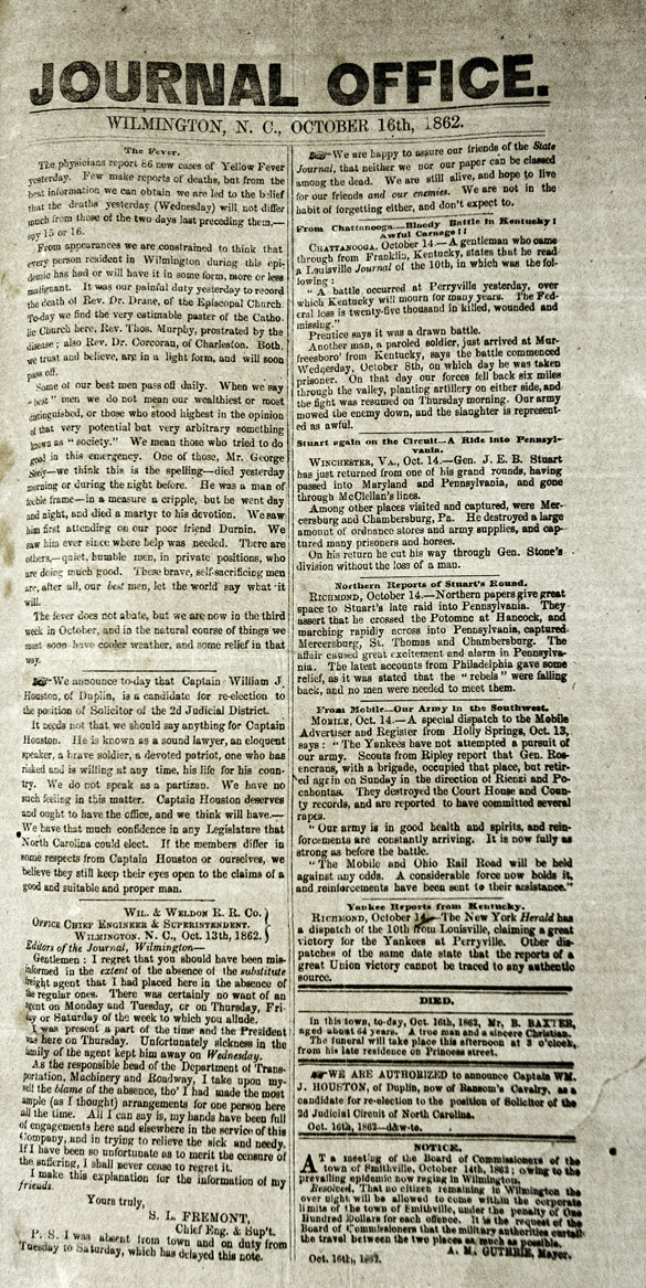 Office Journal (Wilmington), 16 October 1862