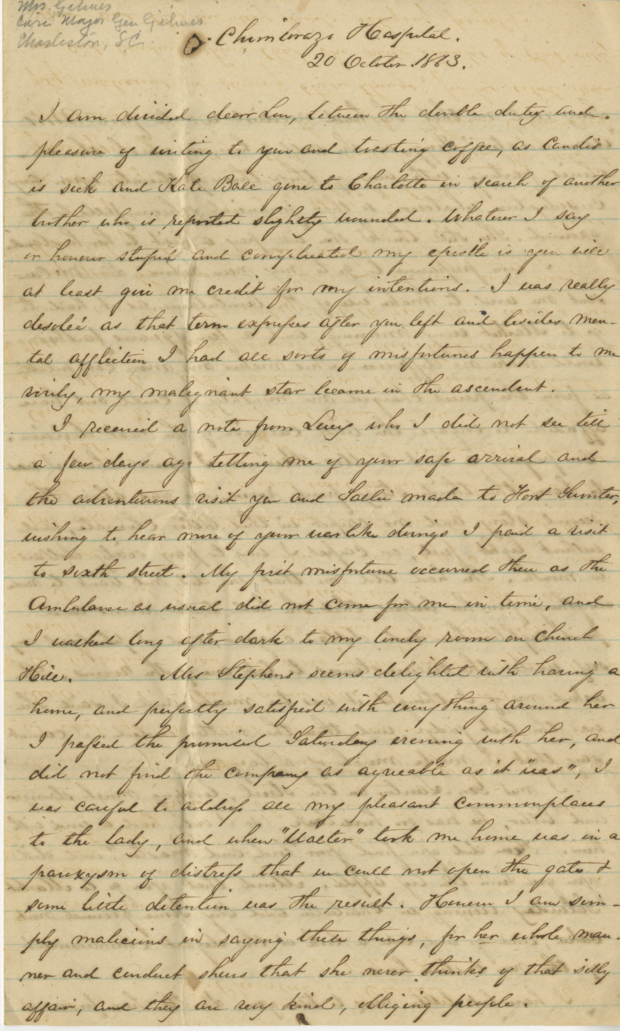 letter to me 20 october 1863 a in the next room has been bawling 23220
