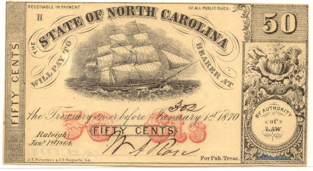 North_Carolina_fiftycent_treasury_note_1864