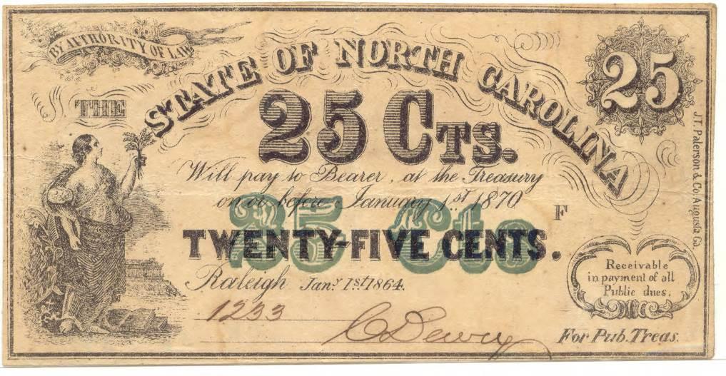 North_Carolina_twentyfivecent_treasury_note_1864