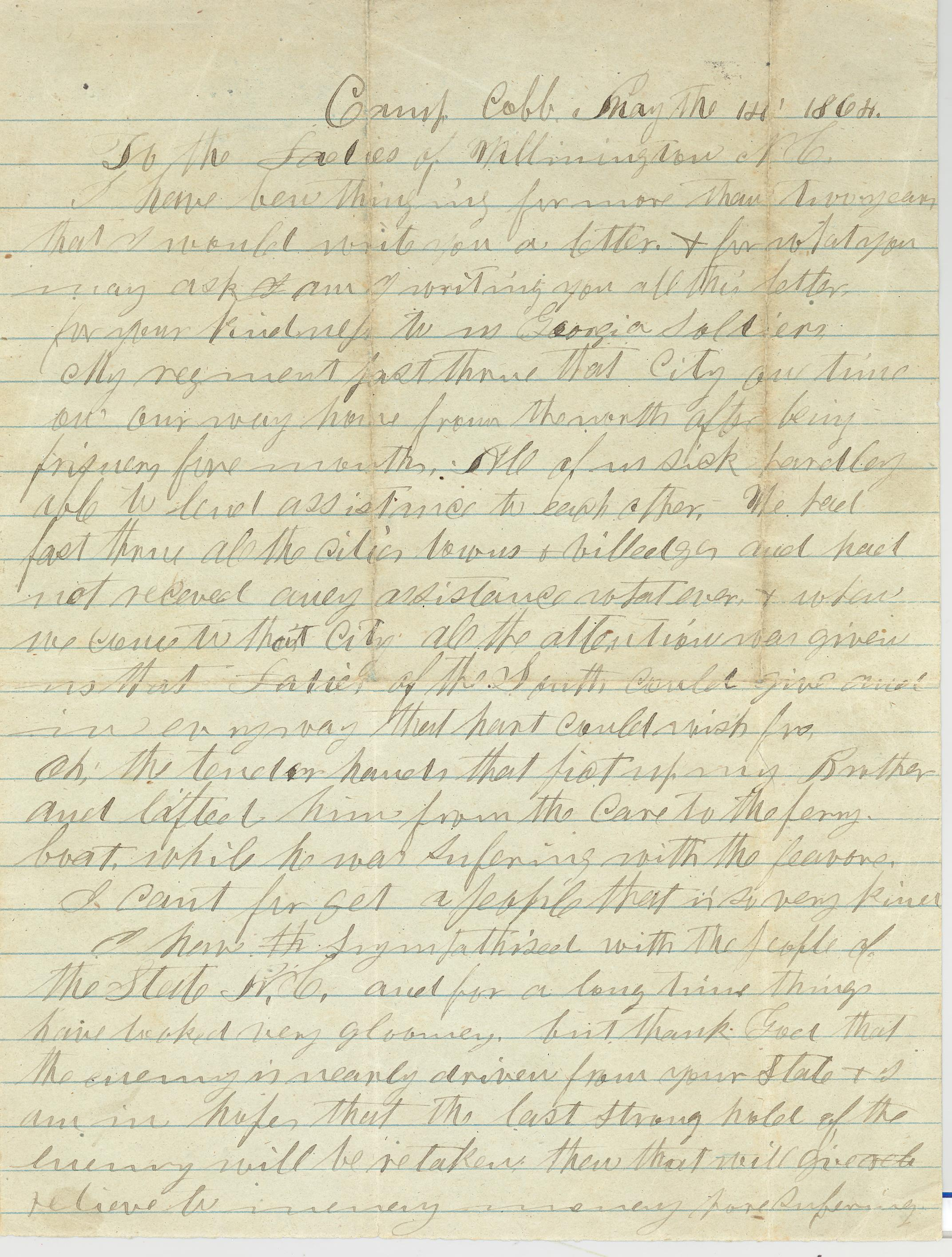 1 may 1864 to the ladies of wilmington nc i have been thinking item citation letter dated 1 may 1864found in folder 61 of the derosset family papers 214 southern historical collection wilson library university of aljukfo Image collections