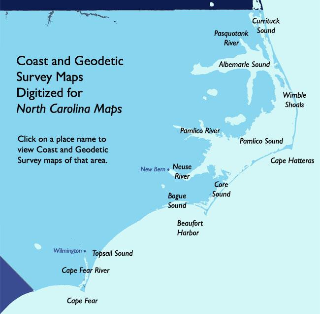 North Carolina Maps Coast And Geodetic Survey Maps Map Nc Coast Map Nc Coast 16
