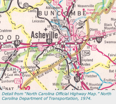 North Carolina Maps State Highway Maps - Us highway map 1960