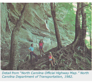 Detail From North Carolina Official Highway Map 1982