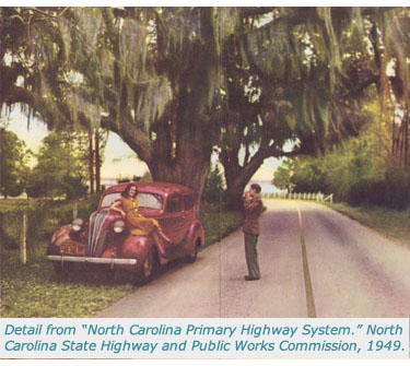 Detail From North Carolina Primary Highway System 1948 1949