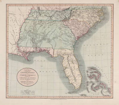 A New Map Of Part Of The United States Of North America 1806