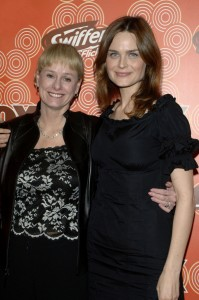 Kathy Reichs and Emily Deschanel